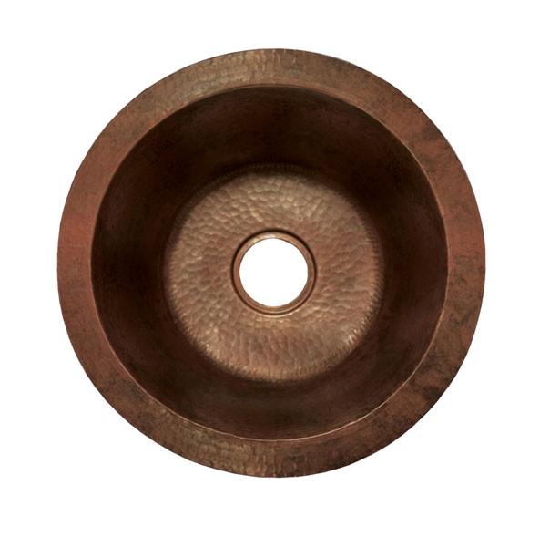 Native Trails CPS.51 Redondo Grande Copper Round Kitchen Prep / Bar Sink