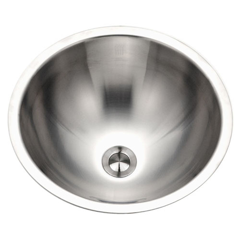 Houzer CRTO-1620-1 Opus Series Conical Topmount Stainless Steel Lavatory Sink with Overflow