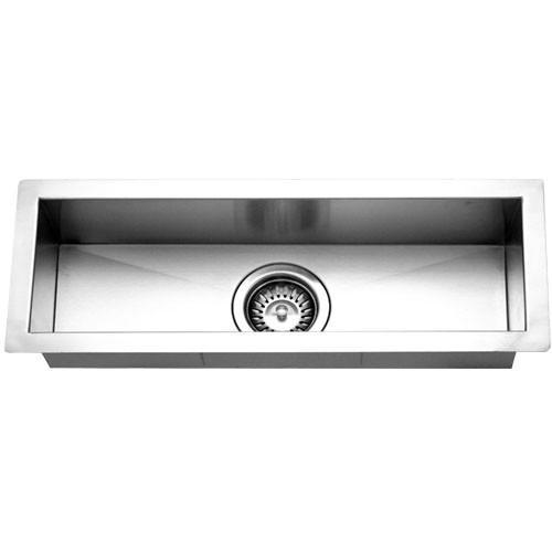 Houzer CTB-2385 Contempo Trough Series Undermount Stainless Steel Bar/Prep Sink