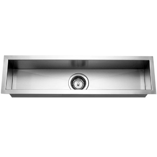 Houzer CTB-3285 Contempo Trough Series Undermount Stainless Steel Bar/Prep Sink