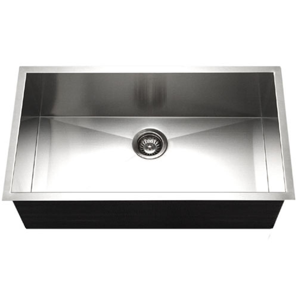Houzer CTG-3200 Contempo Gourmet Undermount Large Single Bowl Kitchen Sink