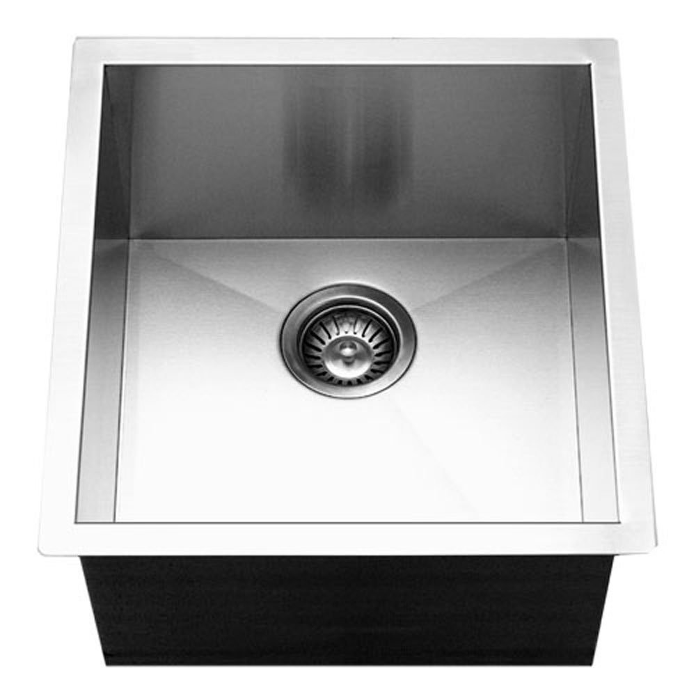 Houzer CTR-1700 Contempo Series Undermount Stainless Steel Bowl Bar/Prep Sink