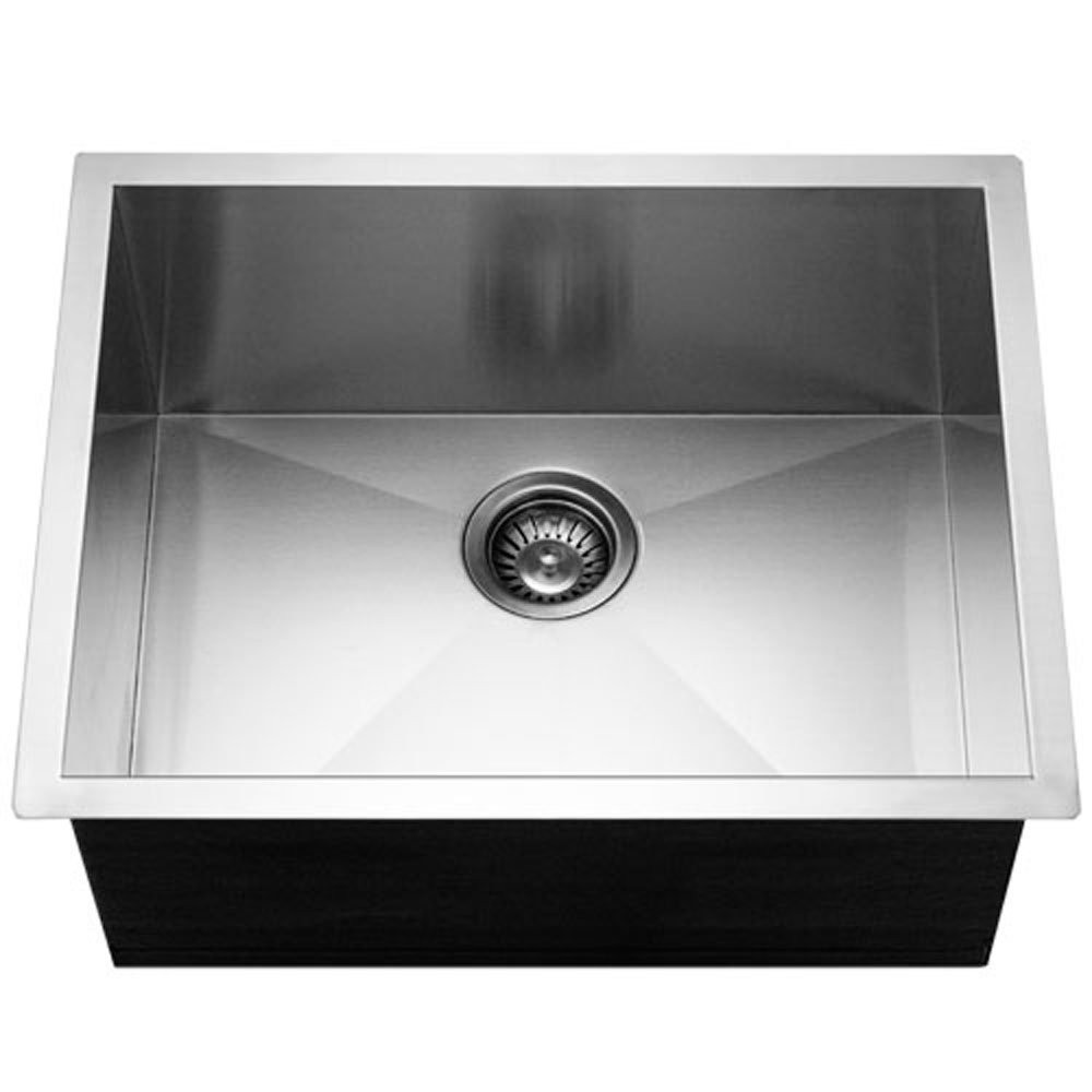 Houzer CTS-2300 Contempo Series Undermount Stainless Steel Single Bowl Kitchen Sink
