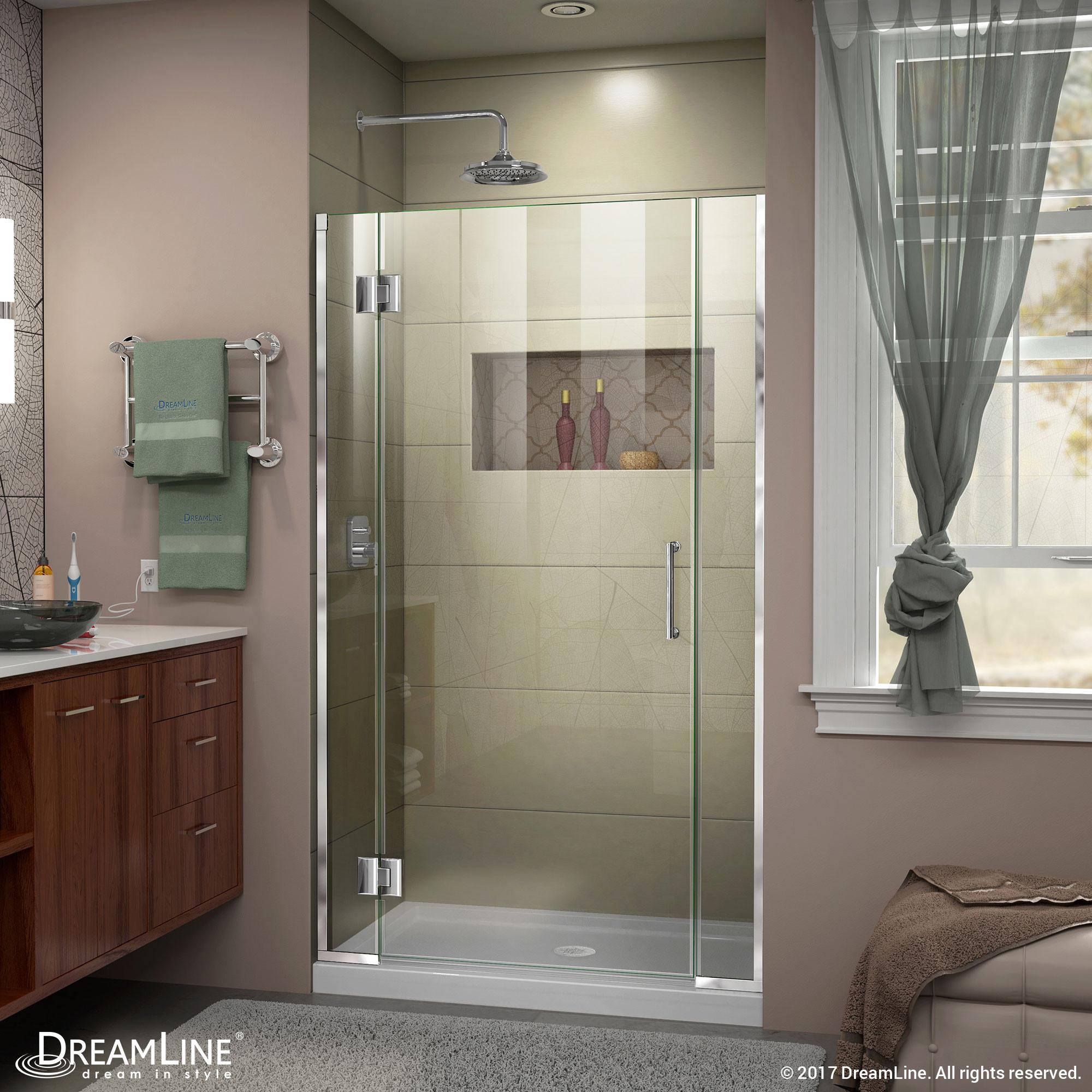 DreamLine D12306572-01 Unidoor-X 35 1/2 - 36 in. W x 72 in. H Hinged Shower Door in Chrome