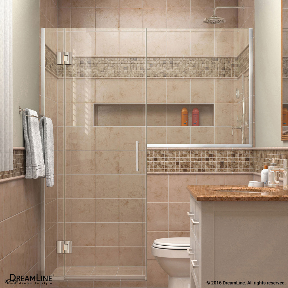 DreamLine D1232434-01 Unidoor-X 53 - 53 1/2 in. W x 72 in. H Hinged Shower Door in Chrome