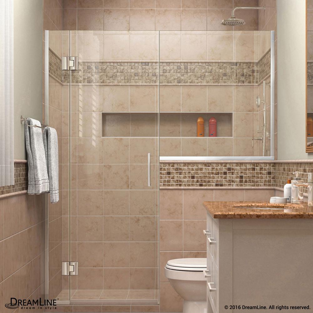 DreamLine D1242436-01 Unidoor-X 54 - 54 1/2 in. W x 72 in. H Hinged Shower Door in Chrome