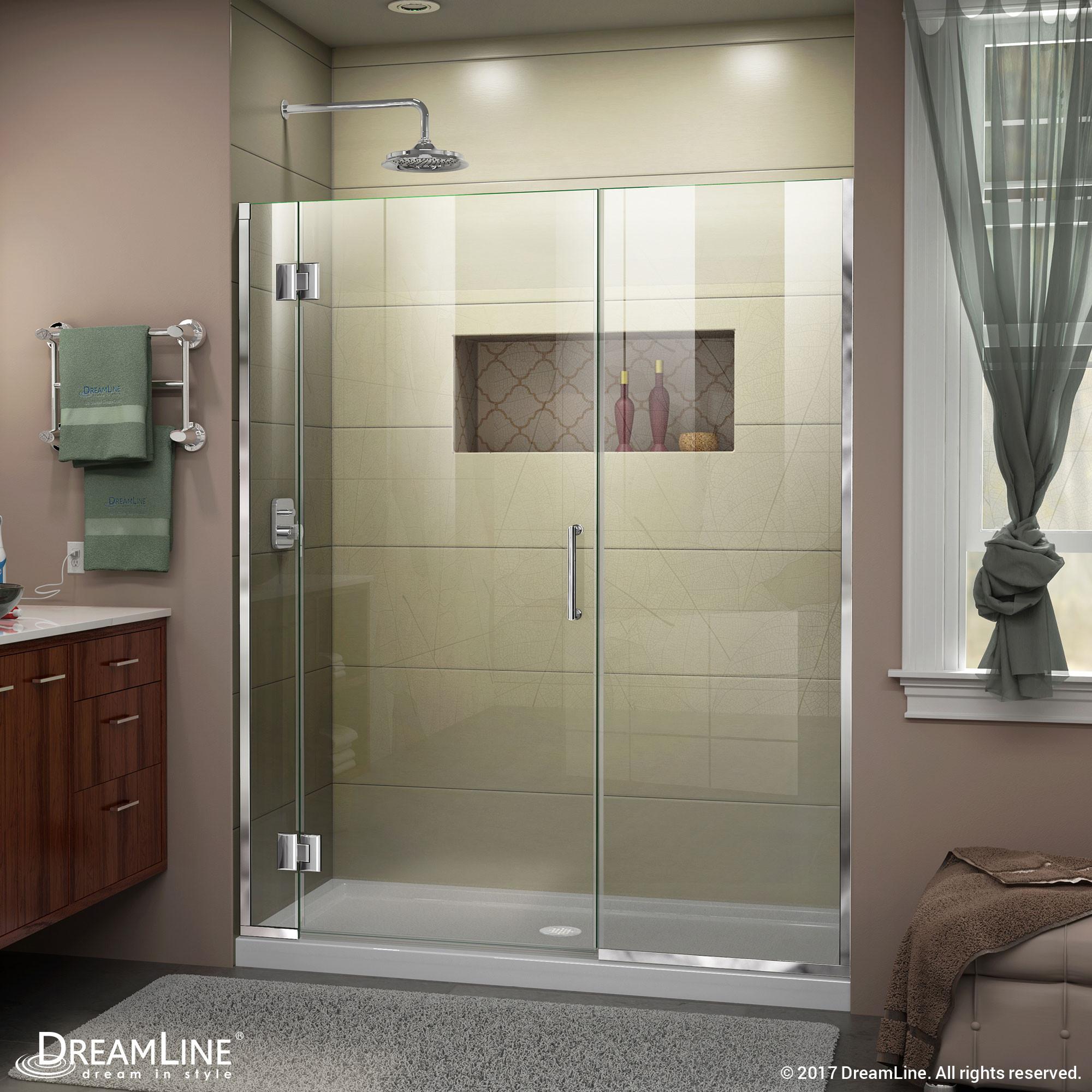 DreamLine D12514572-01 Unidoor-X 45 1/2 - 46 in. W x 72 in. H Hinged Shower Door in Chrome