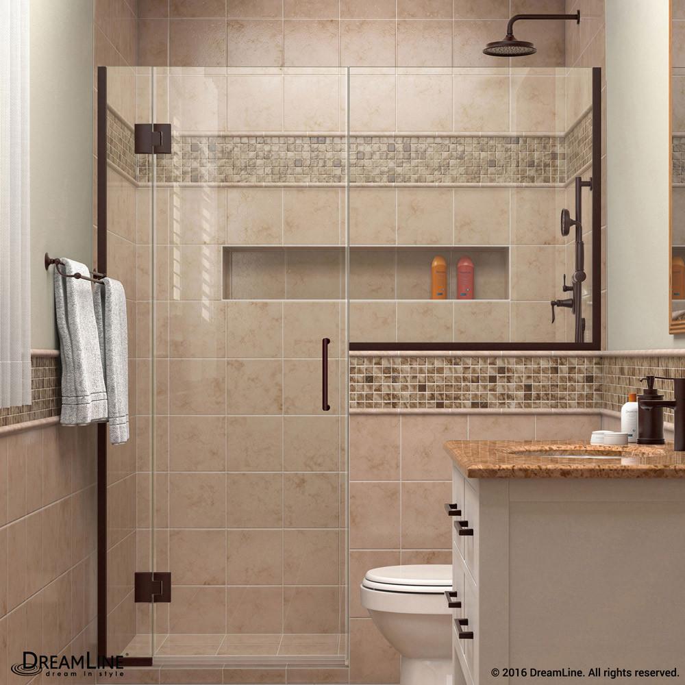DreamLine D1293634-06 Oil Rubbed Bronze Unidoor-X 71 - 71 1/2 in. W x 72 in. H Hinged Shower Door