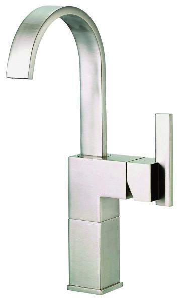 Danze D201144BN Sirius™ Single Handle Vessel Filler Single Hole Mount With Metal Grid Strainer In Brushed Nickel