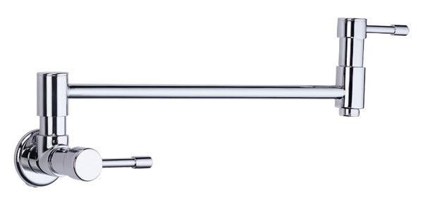 Melrose Wall Mount Pot Filler Faucet In Polished Chrome