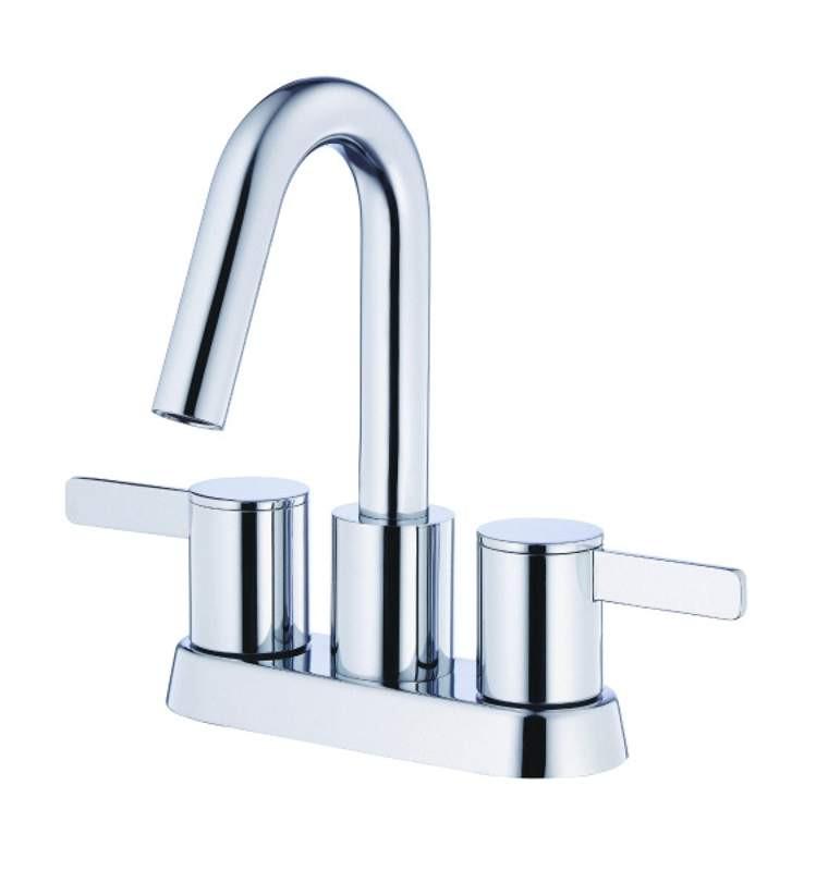 Danze D301130 Amalfi™ Deck Mounted Centerset Lavatory Faucet With Goose Neck Spout In Chrome