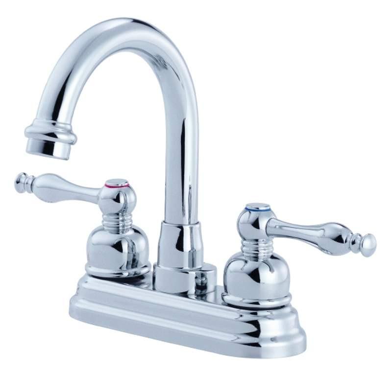 Danze D301355 Sheridan™ Two Handles Centerset High-Rise Lavatory Faucet In Chrome