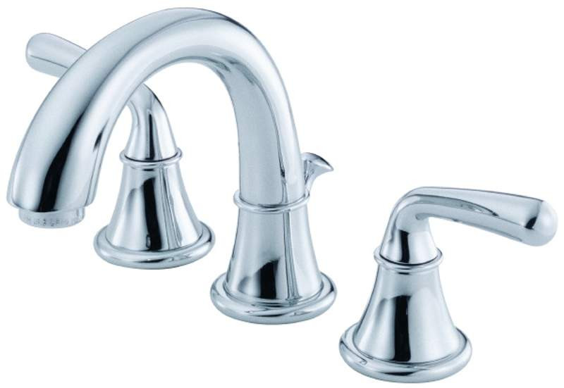 Danze D303156 Bannockburn™ Deck Mounted Widespread Faucet With Two Lever Handles In Chrome
