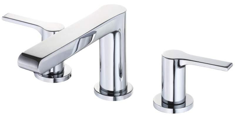 Danze D304087 South Shore™ Deck Mounted Double Handles Widespread Lavatory Faucet In Chrome