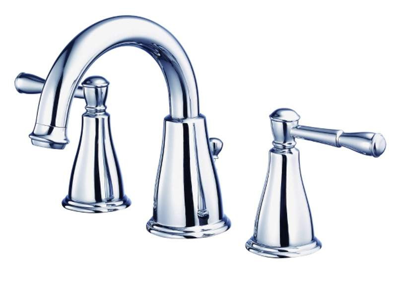 Danze D304115 Eastham™ Curved Deck Mounted Faucet With Two Lever Handles In Chrome