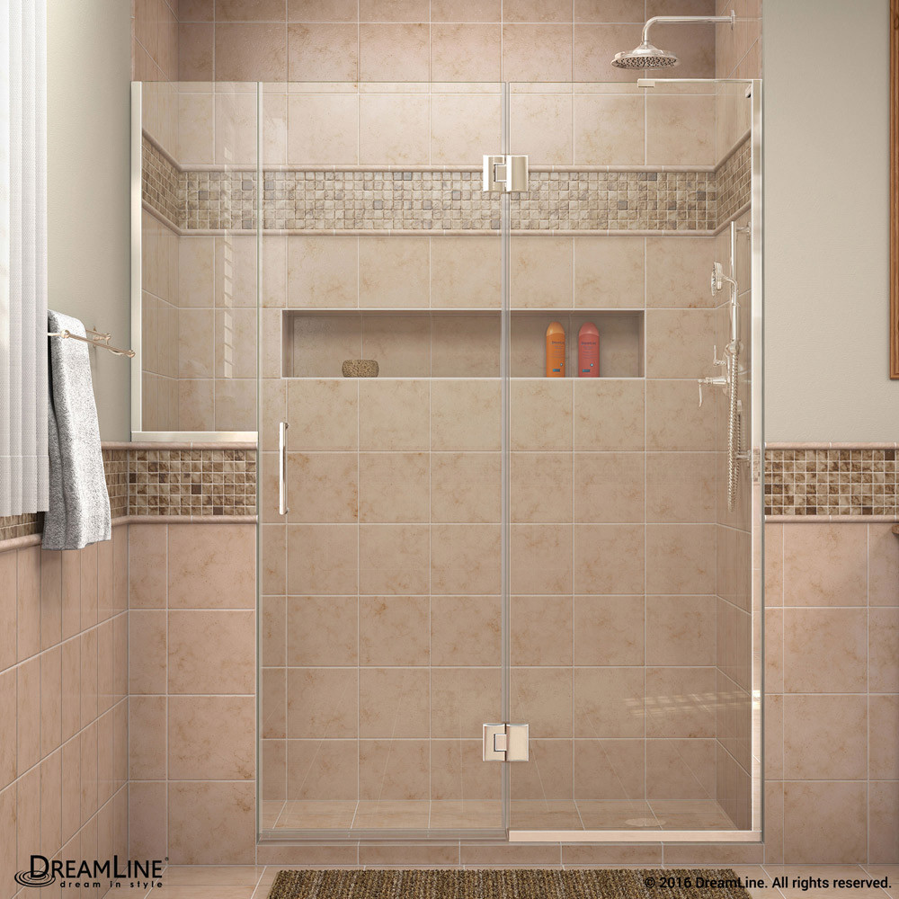 DreamLine D3232434R-01 Chrome Unidoor-X Hinged Shower Door With Right-wall Bracket
