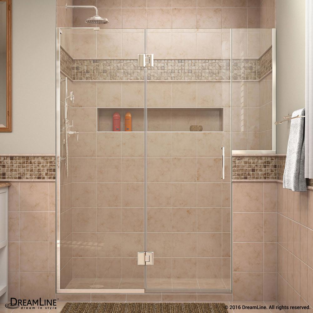 DreamLine D3232436L-01 Chrome Unidoor-X Hinged Shower Door With Left-wall Bracket