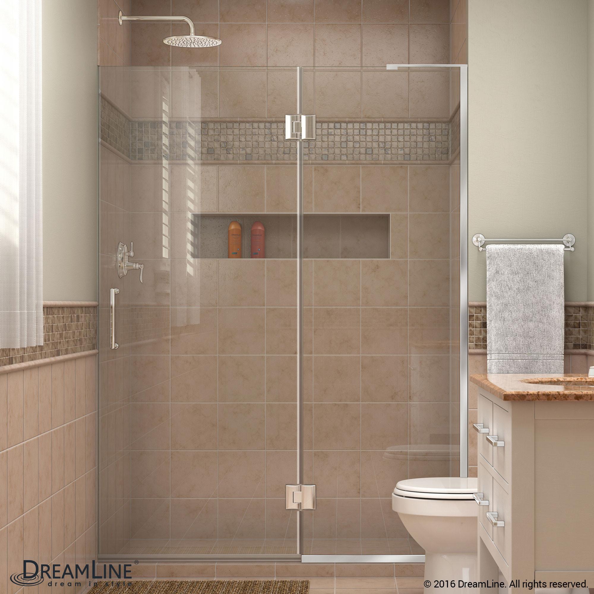 DreamLine D32372R-01 Chrome Unidoor-X Hinged Shower Door With Right-wall Bracket
