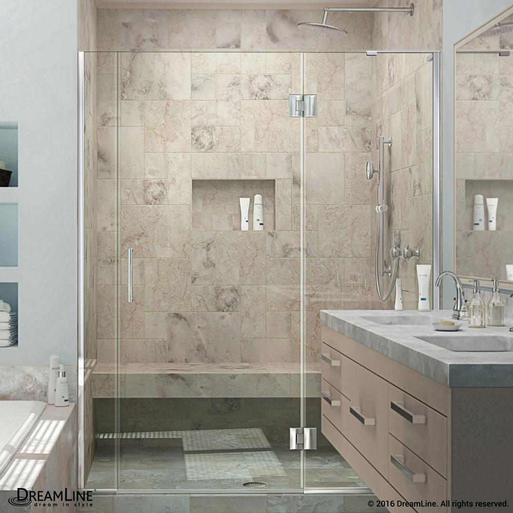 DreamLine D32906572R-01 Unidoor-X Hinged Shower Door in Chrome With Right-wall Bracket