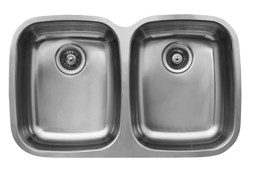 Ukinox D376.50.50.10 Double Bowl Undermount Stainless Steel Sink
