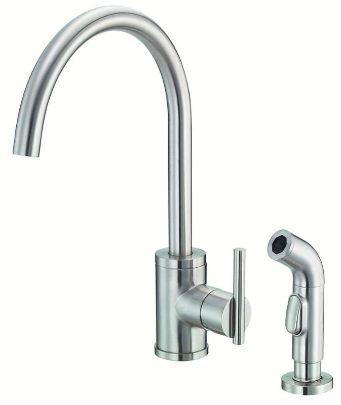 Danze D401058SS Stainless Steel Finish Parma™ Single Lever Handle Kitchen Faucet With Side Spray