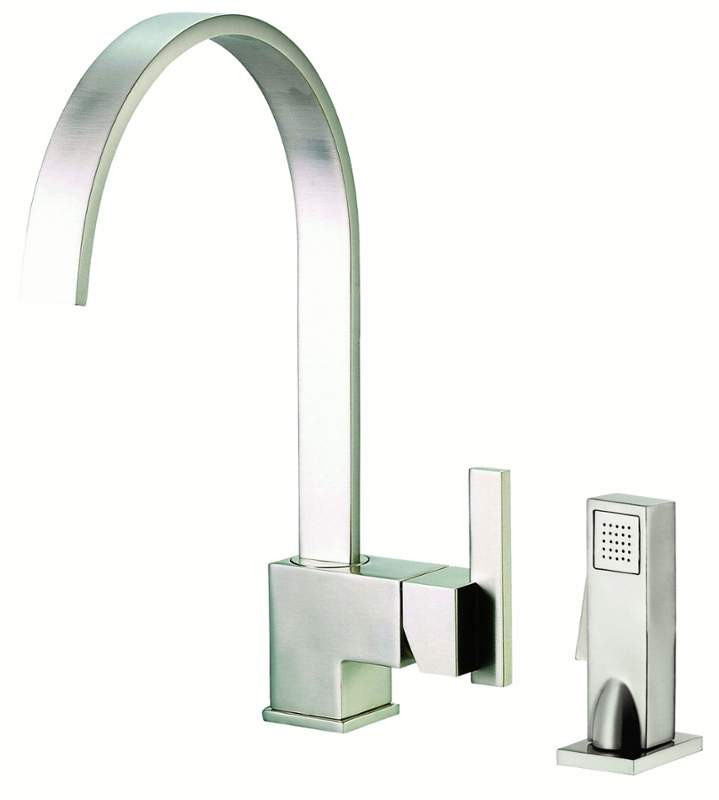 Danze D401144SS Stainless Steel Sirius™ Deck Mounted Single Lever Handle Bar Kitchen Faucet