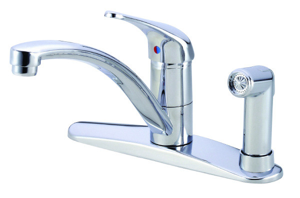 Danze D405112 Chrome Finish Melrose™ One Handle Kitchen Faucet With Spray on Deck
