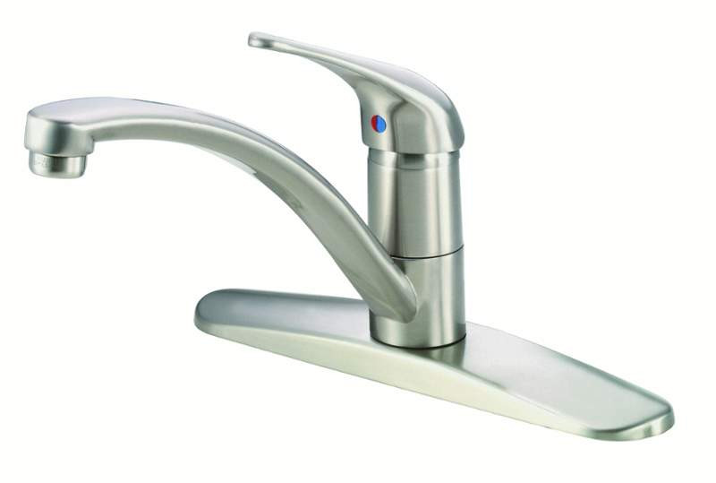 Danze D406612SS Melrose™ Single Handle Kitchen Faucet With Deck Plate In Stainless Steel