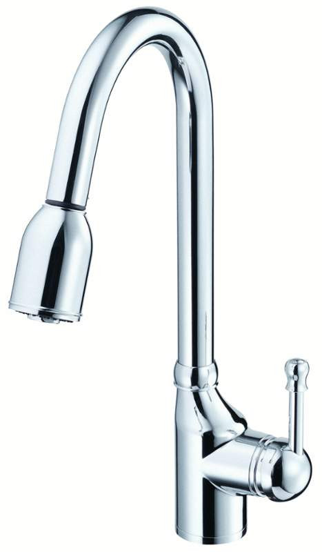 Danze D450015 Melrose™ Smooth Single Handle Pull-Down Kitchen Faucet In Chrome
