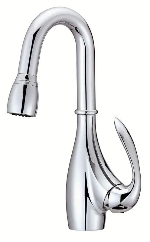 Danze D454446 Bellefleur® Chrome Bellefleur Deck Mounted Kitchen Faucet With Pull-Down Spray