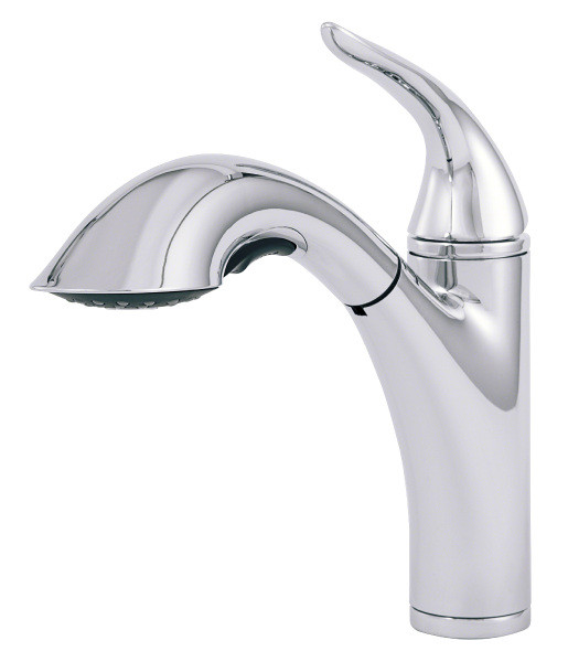 Danze D455121 Chrome Finish Antioch™ Single Handle Kitchen Faucet With Pull Out Spray