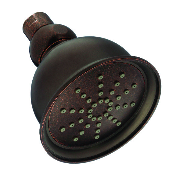 Danze D460025BR Tumbled Bronze Eterno 4 Inch One Function Showerhead