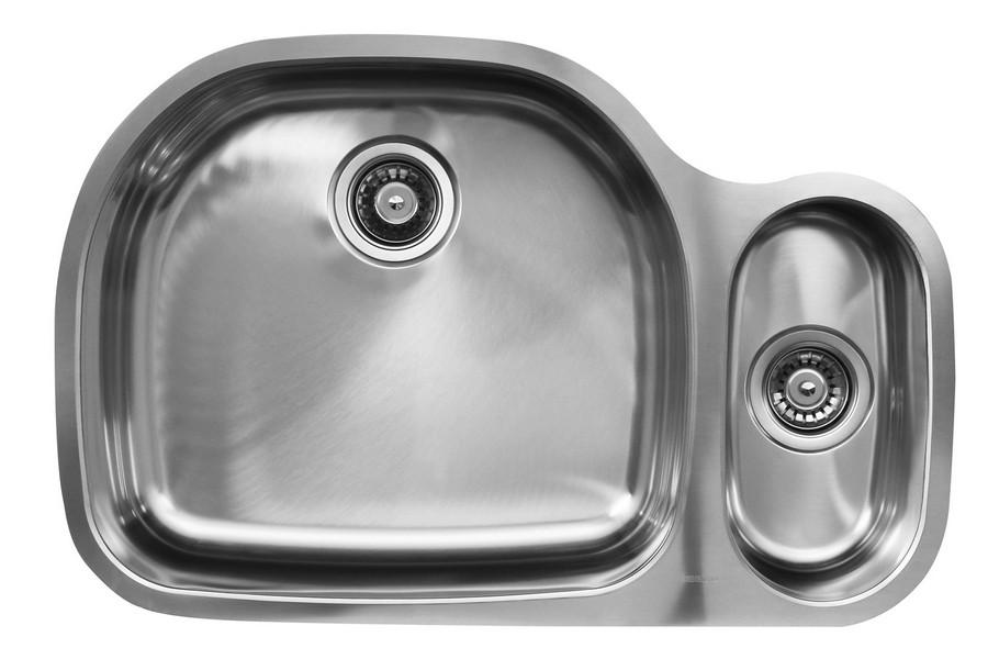 Ukinox D537.80.20.10L 80/20 Double Stainless Steel Undermount Kitchen Sink