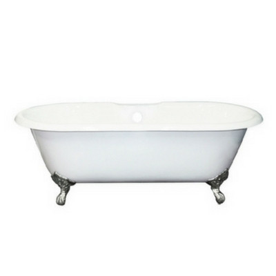 Cambridge DE-60-7DH Cast Iron Double Ended Clawfoot Tub With 2 Faucet Holes