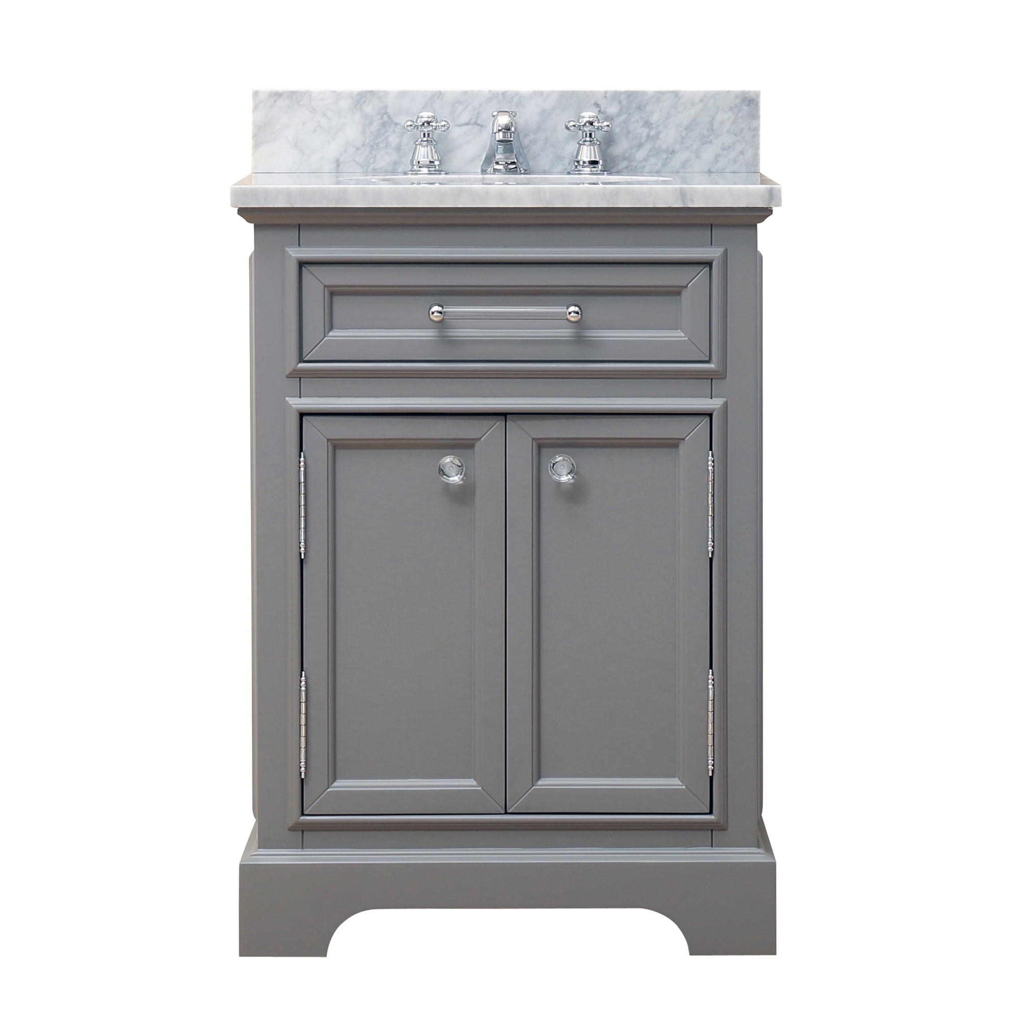 """Water Creation Derby24GF 24"""" Cashmere Grey Single Sink Vanity with Faucet"""