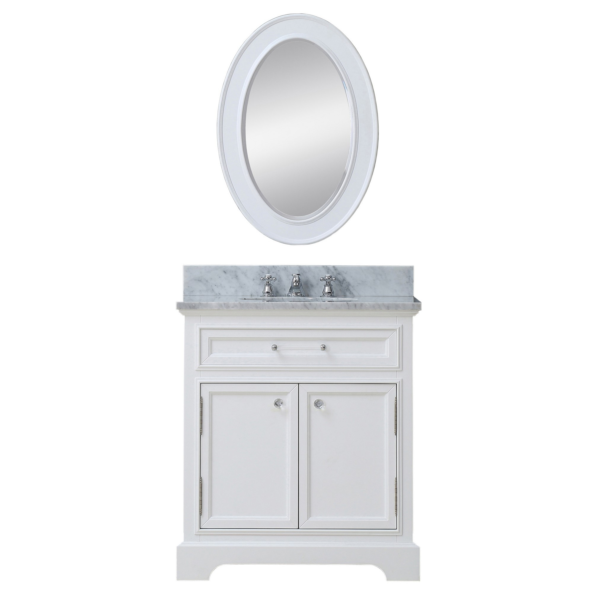 Water Creation Derby 30WBF Bath Vanity With Matching Framed Mirror & Faucet