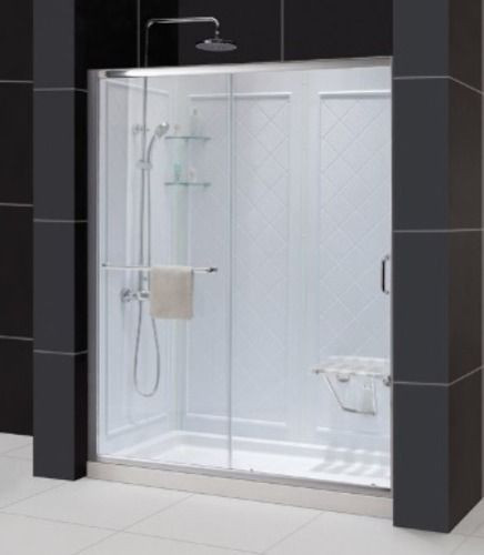 """Dreamline DL-6119L-CL Clear Shower Door, 36"""" by 60"""" Base and Backwall Kit"""