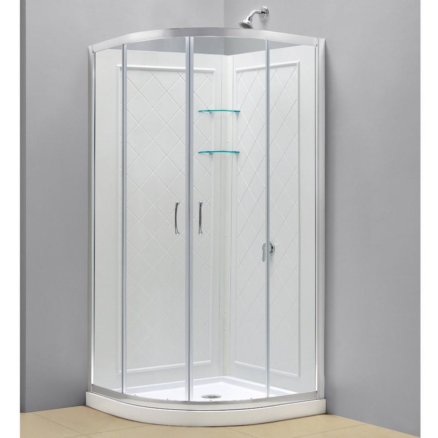 DreamLine DL-6154-01CL Prime Clear Sliding Shower Enclosure, Base & Walls