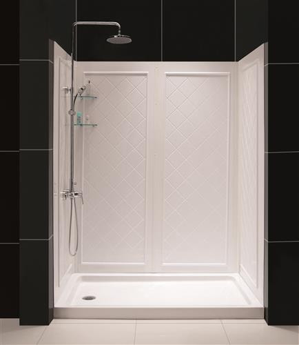 "DreamLine DL-6189R-01 SlimLine 30"" by 60"" Shower Base & QWALL-5 Backwall Kit, Right"