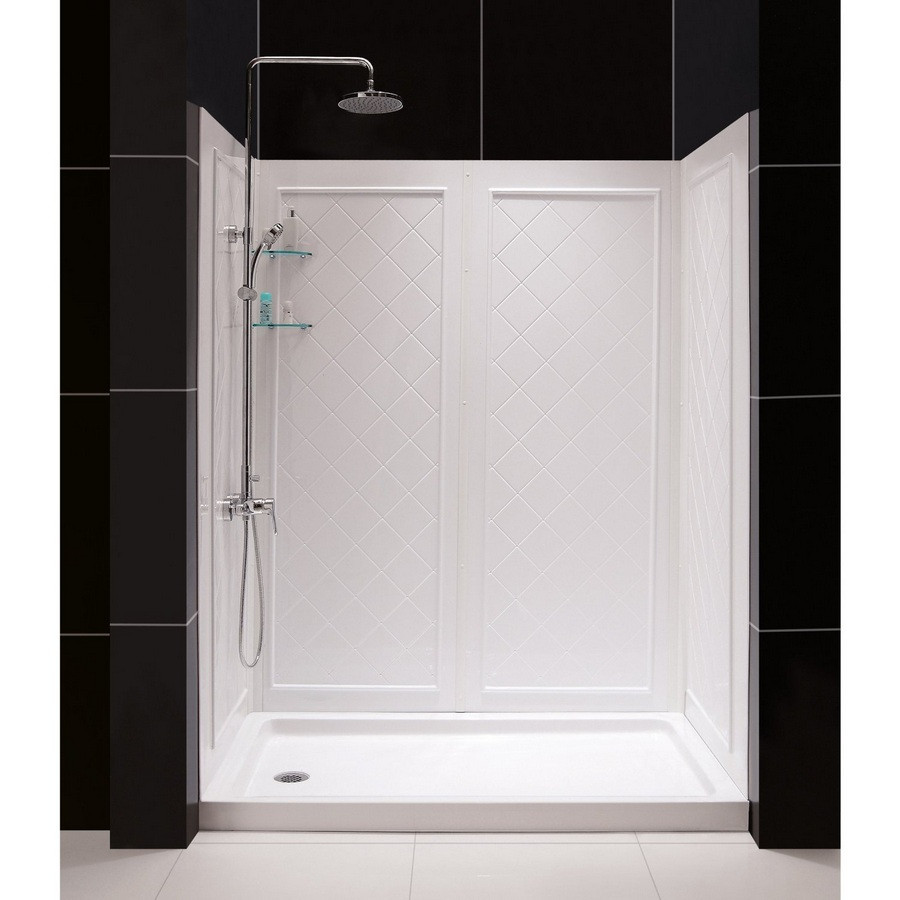 "DreamLine DL-6192R-01 SlimLine 36"" by 60"" Shower Base & QWALL-5 Backwall Kit, Right"