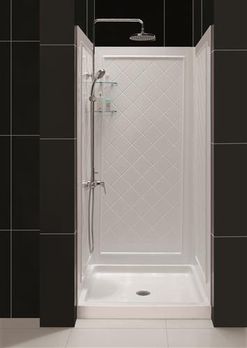"DreamLine DL-6194C-01 SlimLine 36"" by 36"" Shower Base & QWALL-5 Backwall Kit"