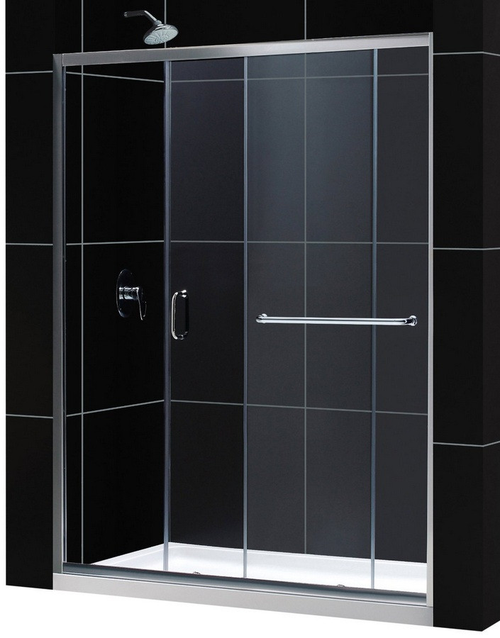 "Dreamline DL-6972R-CL Clear Shower Door and 34"" by 60"" Base Right Drain"