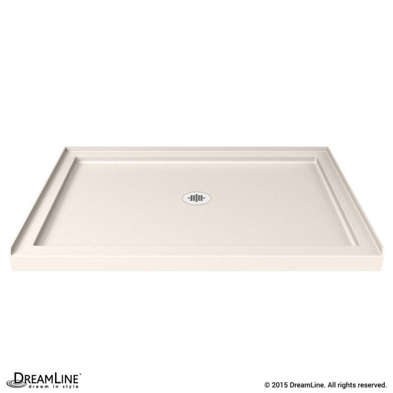 DreamLine DLT-1136480-22 SlimLine 36 Inch by 48 Inch Single Threshold Shower Base In Biscuit Color