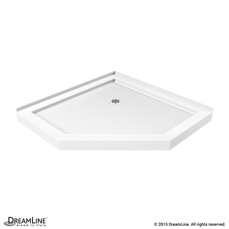 DreamLine DLT-2038380 SlimLine 38 Inch by 38 Inch Neo-Angle Shower Tray In White Finish