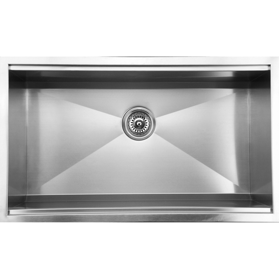 Ukinox DSL813 1 Basin Stainless Steel Undermount Kitchen Sink, Zero Radius