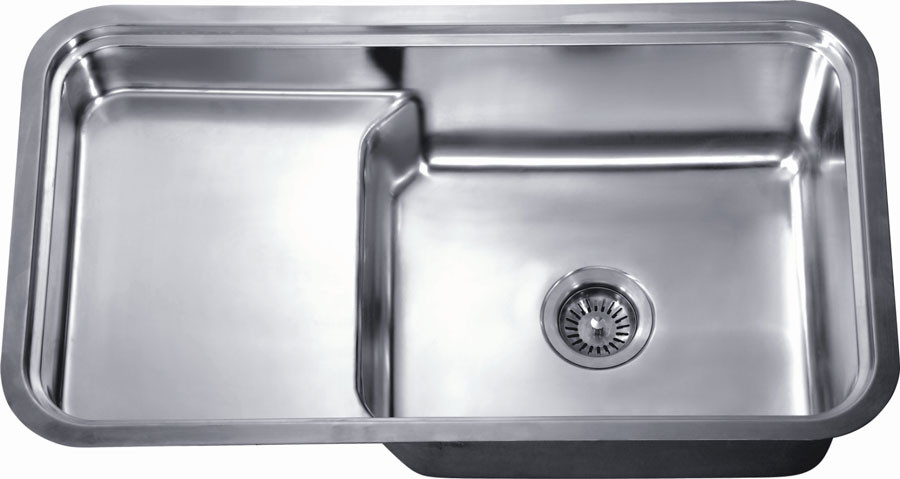 Dawn DSU3018 Undermount Single Bowl with Stepped Basin
