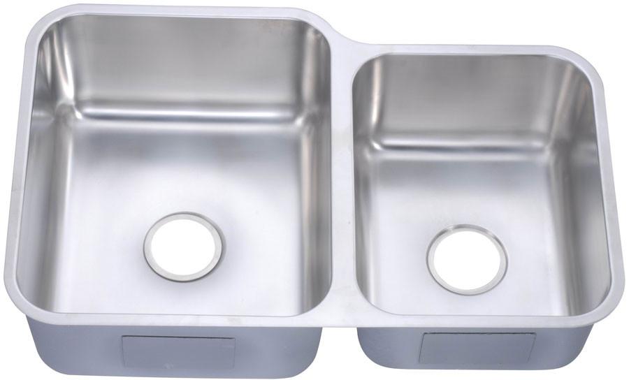 Dawn DSU301916R Undermount Double Bowl Kitchen Sink
