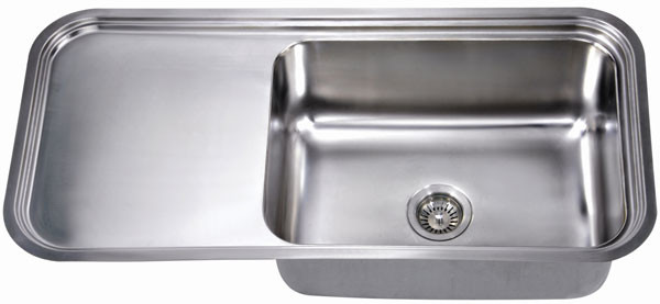 Dawn DSU4120 Undermount Single Bowl with Work Surface