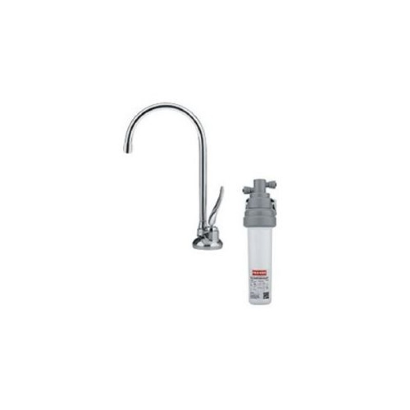 Franke DW5080-100 Farmhouse Kitchen Faucet with Water Dispenser Filter in Satin Nickel