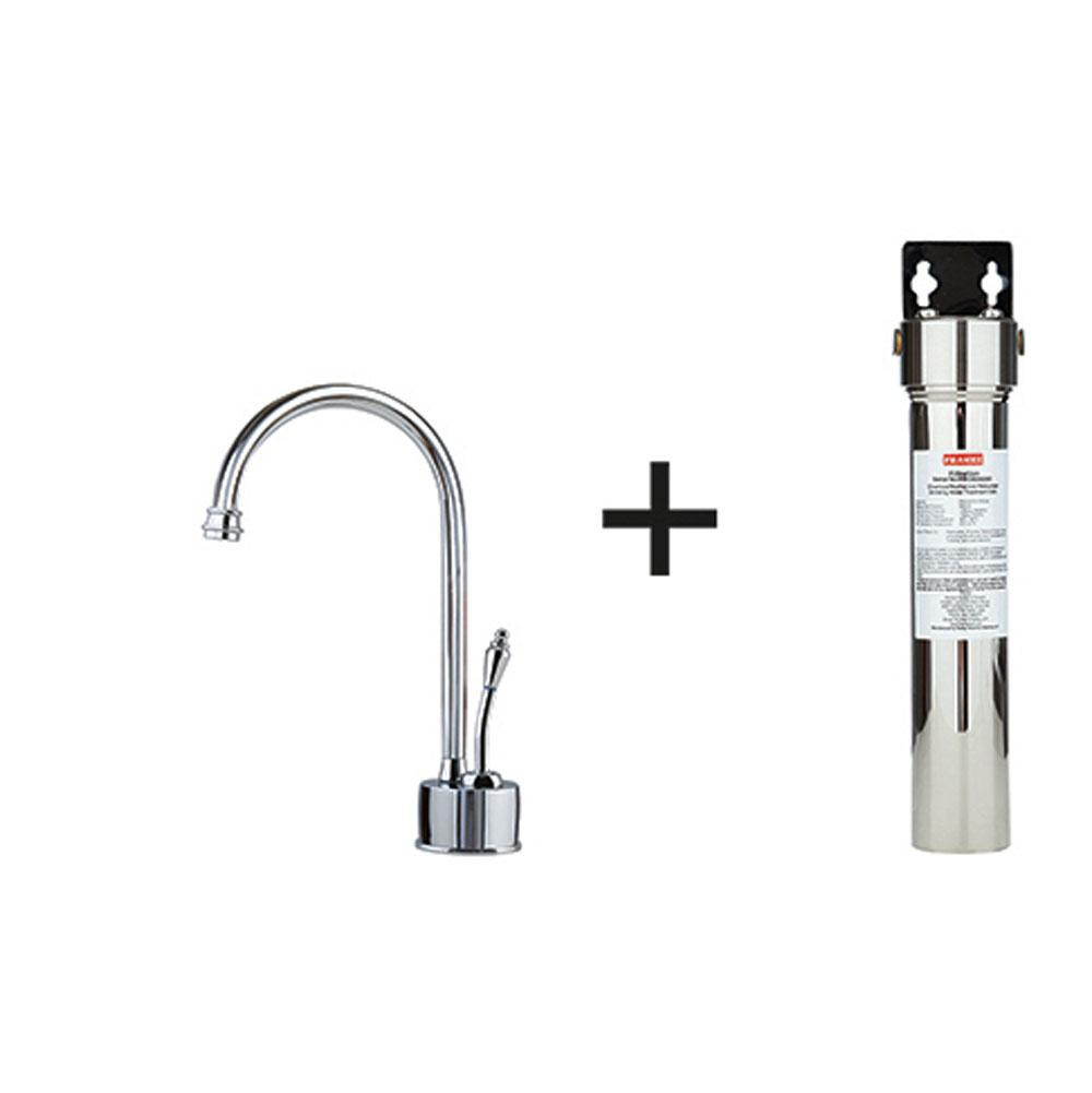 Franke DW6100-FRC Farm House Cold Water Dispenser Faucet with Filter in Polished Chrome